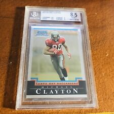 2004 Bowman Chrome White Refractor #205 Michael Clayton Tampa Bay Buccaneers 8.5