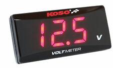 Koso Volt Meter SUPER SLIM rot Voltmeter Spannungsanzeige Motorrad PKW Auto