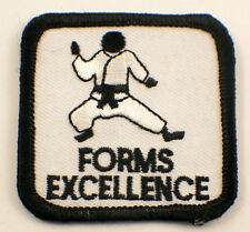Martial Arts Embroidered Uniform Patch Forms Excellence  #Msbk