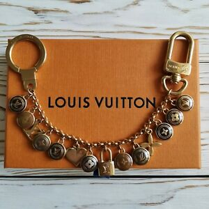 LOUIS VUITTON Porte Cles Chaine Pastilles Bag Charm Chain Key Ring M65386