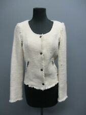 MAISON SCOTCH Cream Long Sleeves Button Front Casual Solid Blazer Sz 1 EE6964