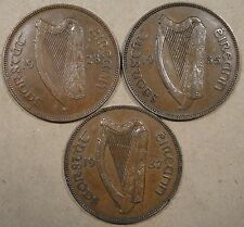 Ireland 3 Pennies 1928,35,+37 Better Circulated Grade Coins