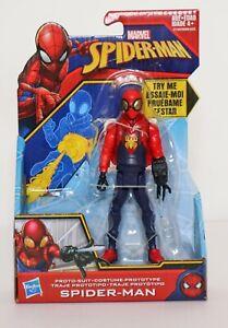 "Spider-Man Proto-Suit Prototype 6"" Never Ending Web Blasting Action Figure NEW"