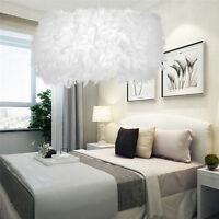 Dreamlike Romantic Feather Shade Droplight Lamp Bedroom Xmas LED Ceiling Light
