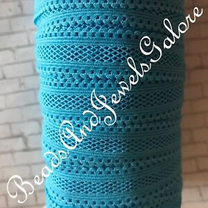 Turquoise mesh foe inspired turquoise elastic turquoise mesh hair ties-5/8