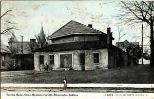 Bratton Home, Oldest Residence in Huntington IN Vintage Postcard V34