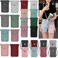 PU Leather Shoulder Bag Purse Handbag Touch-Screen Mobile Phone Crossbody Pouch