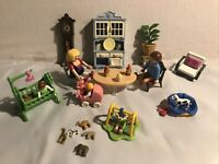 Playmobil Family Bundle Inc Children Dog Grandfather Clock And Accessories