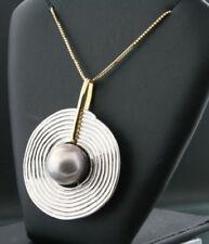 Collares y colgantes de joyería con perlas colgante en oro blanco perla