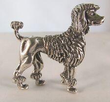 Miniatura statuina argento cane Barboncino  fatta a mano argento 800 gr 40