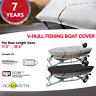 HEAVY DUTY 100% SOLUTION DYED POLYESTER V-HULL FISHING BOAT COVER