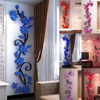 3D Flower Wall Sticker Decal Vinyl Mural Art Home Room DIY Decor Removable nice