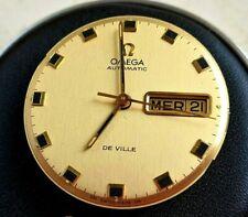Omega DE VILLE cal 752 CALENDARIO DIAL GOLD Original COME NUOVO WORKING FULL
