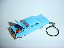 NEW 3D BLUE 1964 CHEVROLET IMPALA CUSTOM KEYCHAIN keyring key 64 classic RIDE!