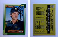 Jim Leyland Signed 1990 Topps #699 Card Pittsburgh Pirates Auto Autograph