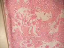 Lilly Pulitzer Whimsical White Rhino Run For The Roses Capri Pants-2, pink/white