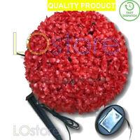 New Solar Power 28cm Topiary Sphere Ball 20 Led Lights Garden Hanging Dusk Light