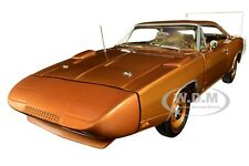 1969 DODGE CHARGER DAYTONA MET. BRONZE MCACN 1/18 DIECAST CAR AUTOWORLD AMM1168