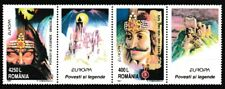 Dracula! Vlad the Impaler mnh strip 2 stamps/2 labels 1997 Romania #4158a Europa