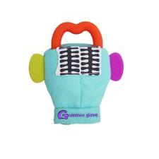 Guanto Gummee dentizione bambino guanti di pelle in silicone a forma di anello Teether Turchese 3 - 6 M
