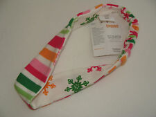 Gymboree Snowflake Stripe Cheery All The Way Hair Bows Headband NEW