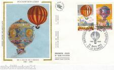 1983//ENVELOPPE SOIE**FDC 1°JOUR**MONTGOLFIERE-LE BOURGET**TIMBRE Y/T 2261-2262