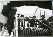 PHOTO Keystone GUERRE 39 45 MARINE ANGLAISE DRAGUEUR DE MINES ROYAL NAVY g323