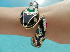 KENNETH JAY LANE 22K-plated w/crystals Snake Bangle