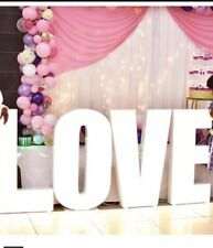 4ft Giant LED Love Lights / Large Light Up Letters For HIRE for Weddings