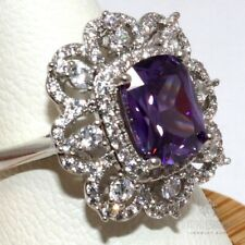 Vintage Purple Amethyst Ring Women Nickel Free Jewelry Birthday Gift Size 6 to 9