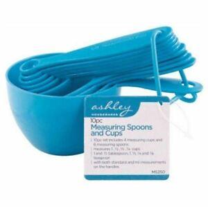 10Pcs Plastic Measuring Spoons Cups Set Tools For Baking Coffee Tea UK SELLER