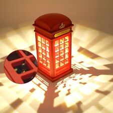 USB Charging LED Night Light Lamp Touch Vintage London Telephone Booth Designed