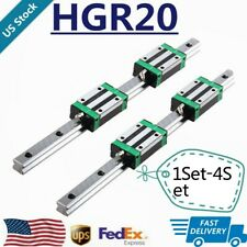 2/4/6/8Pc Hgr20 200-1700mm Linear Guide Rail+4/8/12/16Pc Hgh20Ca Slide Block Cnc