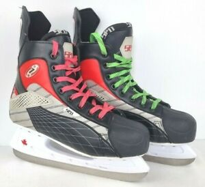 SPD 216 Performance Black Grey Red Mens Ice Skates Ice Hockey - Size EU 43 UK 9