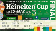 Leicester v Munster Heineken European Cup Final 25 May 2002 Cardiff RUGBY TICKET