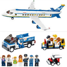 Sluban 463pcs Puzzle Building Block Plane City Airport Cargo Terminal W/7 Dolls