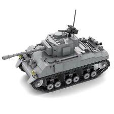 Lego ww2 M4 Sherman  US army military bricks Tank Custom  WWII soldier battle