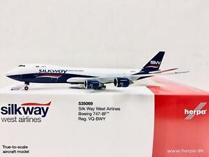 Herpa Wings Silk Way West Airlines Boeing 747-8F 1:500 VQ-BWY 535069