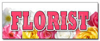 FLORIST DECAL sticker rose flower shop arrangements delivery fresh plants