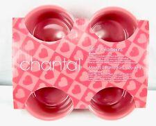 Set of 4 Chantal Ramekins Pink Baking Serving Dishes Bowls 1 Cup Capacity Each