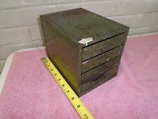 Vintage Steel 4 Drawer Parts Hardware Industrial Organizer Tool Cabinet