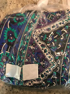 "Pottery Barn Teen Boho Mandala Printed Tapestry Navy Blue/Purple 80"" x 90"" NEW"