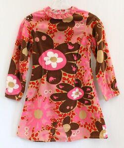 Oilily Velvet Floral Printed Dress w/ Ruffled Neckline Sz 140 / 10