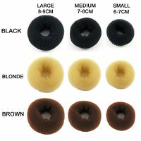 Black, Blonde & Brown Fashion HAIR DOUGHNUT BUN RING Shaper - Updo Style Donut