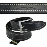 Cintura cinta uomo personalizzata in pelle cuoio casual classica accorciabile