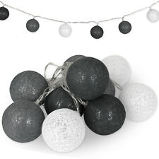 LED Lichterkette 10 Kugeln Baumwollkugeln Cotton Ball Weihnachtsdeko Batterie