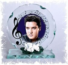 Elvis Presley  special custom made Cut Glass photo plaque  ideal for Elvis fan