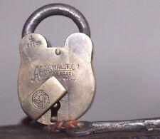 1900s  Vintage Beautiful Shape VICTORIA EMPRESS Marked ALIGARH Brass Pad lock