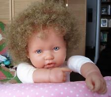 Curly Wig for Reborn or Berenguer Baby Doll Size head 37 cm Pick your color