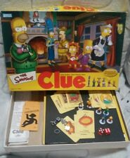 THE SIMPSONS CLUE GAME- 2ND EDITION. 2002 Parker Brothers